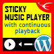 Sticky Audio Player WordPress Plugin